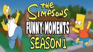 The Simpsons - Funniest Moments - Season 1 ᴴᴰ