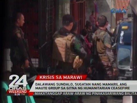 Dalawang sundalo, sugatan nang mamaril ang Maute Group sa gitna ng humanitarian ceasefire