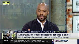 ESPN GET UP | Louis Riddick react to Lamar Jackson to face Patriots for 1st time in career