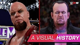 A visual History of The Undertaker in WWE Games (WWE 2K18)