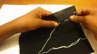 How To Baste Stitch - Tacking Stitch : Beginners Hand Sewing & Embroidery Diy