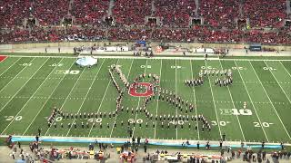 The Ohio State University Marching Band celebrated film scores during their Penn State halftime perf
