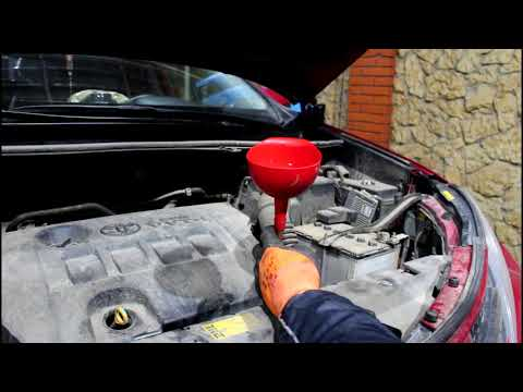 Замена масла в вариаторе частичной заменой Toyota RAV4 Тойота РАВ4 2015 года
