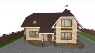 Проект дома с мансардой «Удобный»  D-086-ТП(, 2016-10-24T14:04:06.000Z)