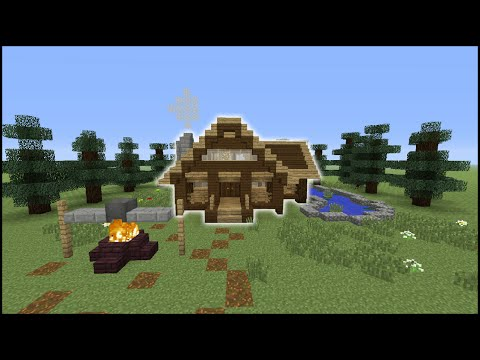Minecraft Tutorial: How To Make A Log Cabin