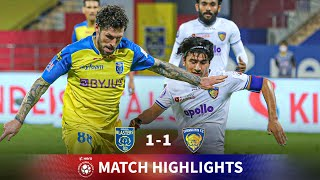 Highlights - Kerala Blasters 1-1 Chennaiyin FC - Match 102 | Hero 2020-21