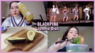 Trying Blackpink Jennie's Diet 🥑 my first kpop performance
