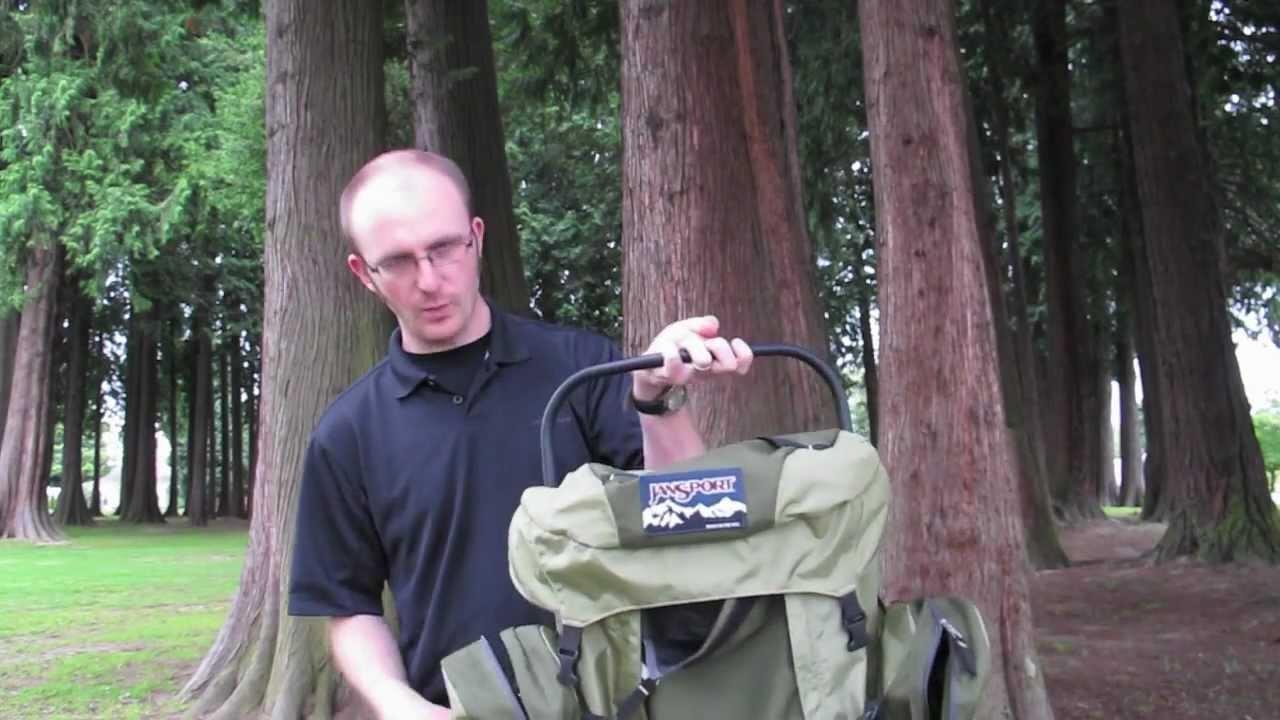 Jansport Carson 80 External Frame Backpack review - YouTube