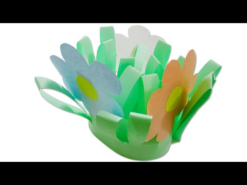 How to make a paper vase with flowers - DIY paper crafts