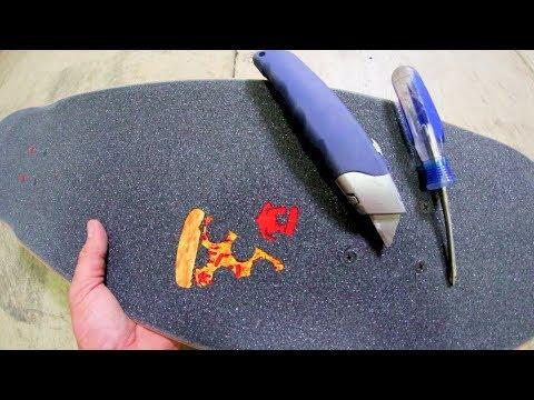 How to Make PIZZA Skateboard Griptape!