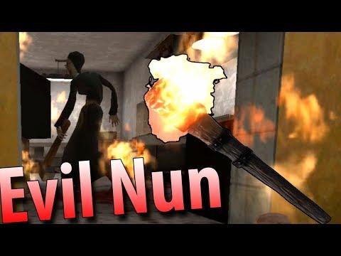 Подожгли Злую монахиню, сбежали из школы! Новая концовка Evil Nun Scary Horror Game Adventure