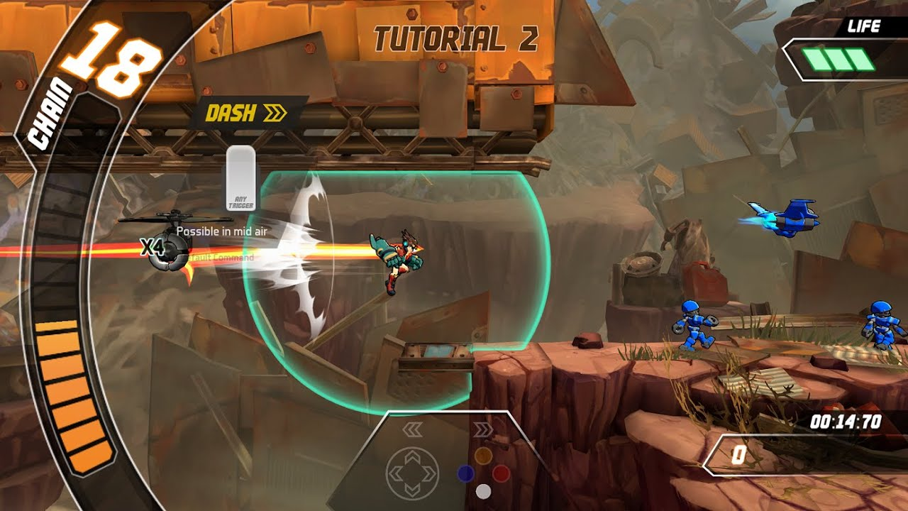 How to Play Skybolt Zack - Tuto 2: Dash and Jump Attack