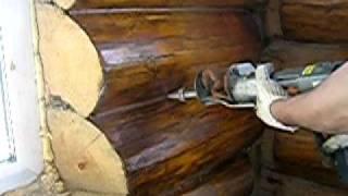 Герметизация швов деревянного дома(Возможна герметизация трещин в бревне, герметизация межвенцовых зазоров, герметизация швов деревянного..., 2011-07-22T12:01:21.000Z)