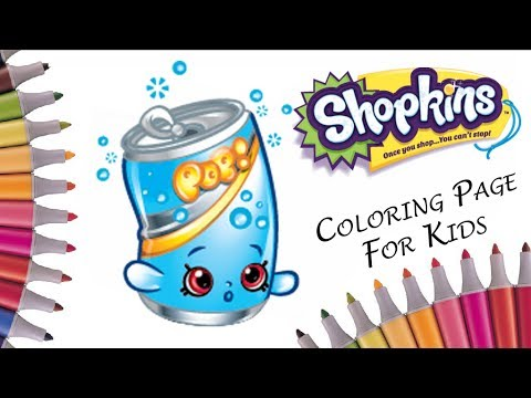 Coloring Soda Pops Shopkins Pages Art Colors For Kids