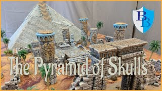 How to Build an Egyptian Pyramid and Desert Scatter Terrain for D&D
