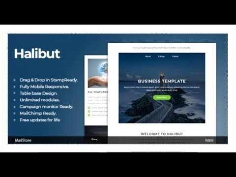 Halibut Responsive Email Template With Stampready Builder
