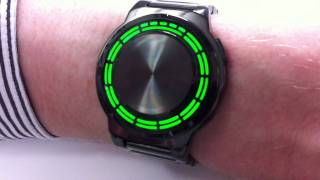 Kisai RPM Black Stainless Steel Green LED Watch Design From Tokyoflash Japan