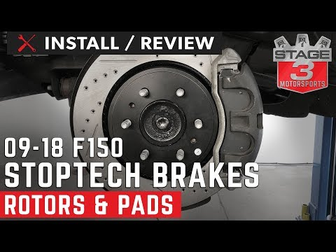 Front /& Rear Ceramic Brake Pads w//Hardware for 2009 Ford F-150