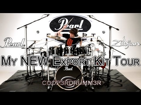 Kit Tour of My NEW Pearl Export Series Drums!