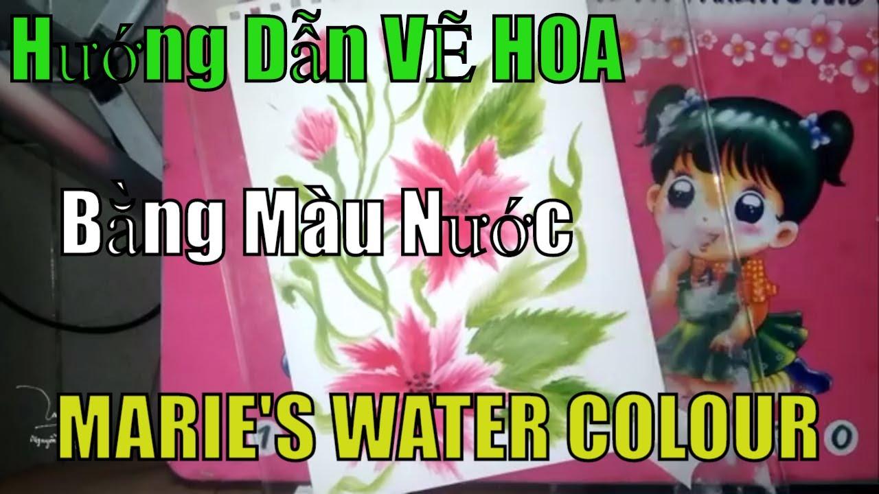 Hướng Dẫn VẼ HOA Bằng Màu Nước MARIE'S WATER COLOUR # 1| NDT Art Drawing