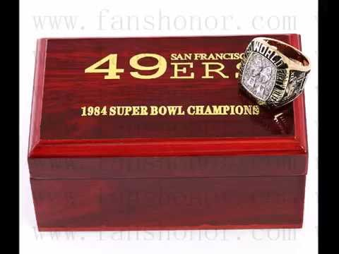 Custom NFL 1984 Super Bowl XIX San Francisco 49ers Championship Ring