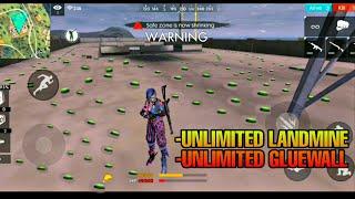 Unlimited Landmine, Unlimited Gluewall, Unlimited Ammo Free Fire Battleground 2019