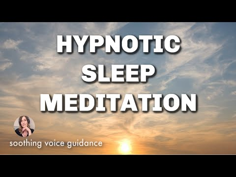 Sleep Hypnosis Meditation & Guided Talk Down for Insomnia with Sleep Music and Peaceful Ocean Waves
