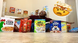 BUYING ALL THE  CEREAL FROM WALMART | IAMJUSTAIRI