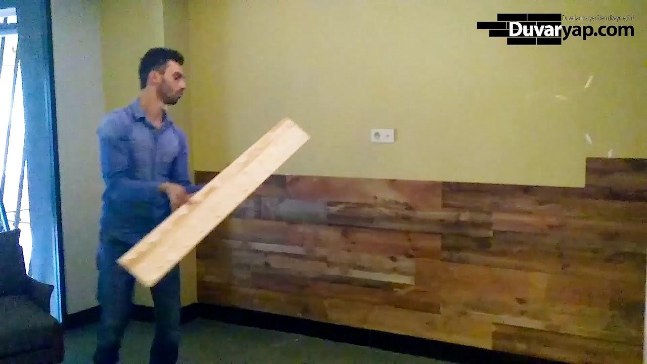 Ahşap Duvar Paneli Uygulaması (Kendin Yap-Kolay Uygulanır)