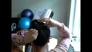 1 minuet bun using Goody Updo Pin Thumbnail