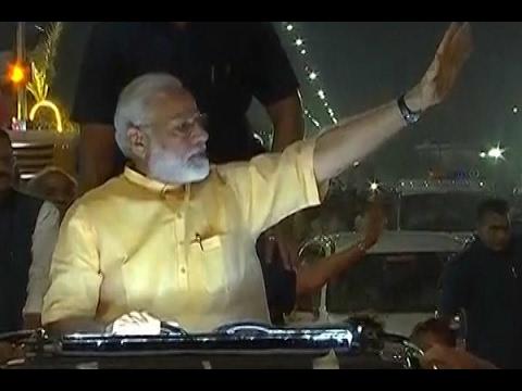 Mission Gujarat: PM Narendra Modi's 11 km long mega roadshow begins in Surat