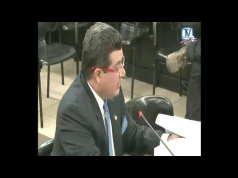 Comisión Inv Créditos Bancarios Aud.Ministro de la Presidencia, Sergio Alfaro