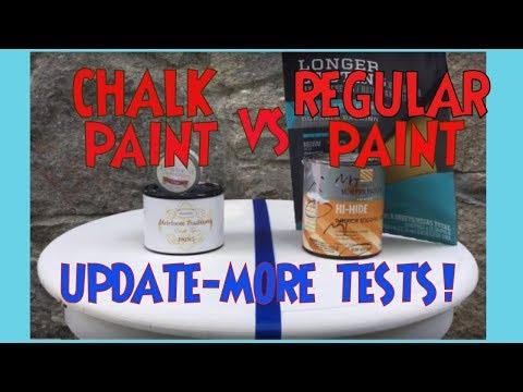 Chalk Paint vs Regular Paint UPDATE Latex Chalk Comparison Which is Best? Latex or Chalk?