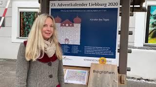Ein Werk von Leo Ganzer in Fenster Nr 24 am Lienzer Kunstadventkalender