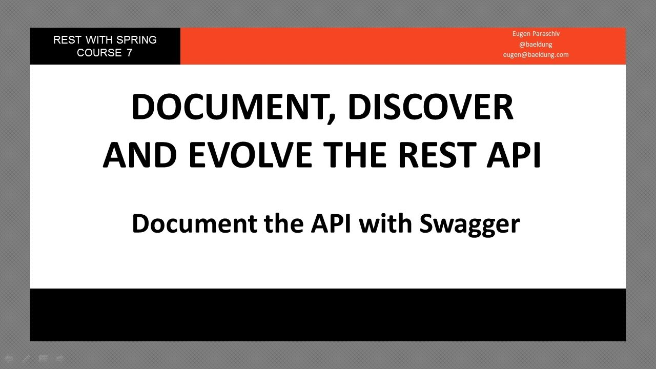 Document the API with Swagger (RWS - Module 7 - Lesson 1)