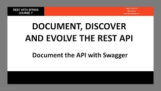 Document the API wİth Swagger (RWS - Module 7 - Lesson 1)