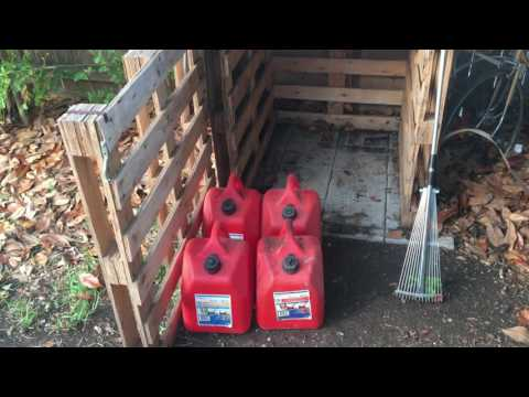Fired Up Prepper's SHTF Fuel Storage   Structure and Stabil Storage
