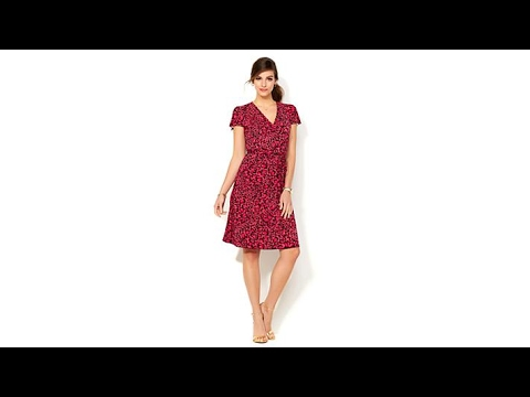84768328831 IMAN Global Chic Luxury Resort Illusion Wrap Dress - YouTube