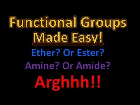 Organic Chemistry Functional Groups Made Easy and Memorizable!