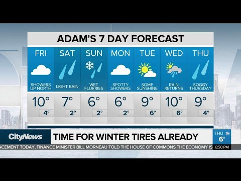Rain and wet flurries expected this weekend