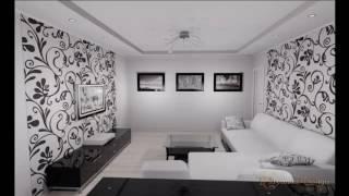 видео Обои в зал 2016: комбинированные и модные (фото дизайн современных идей)