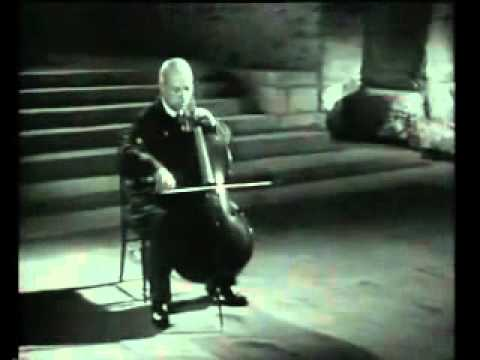 Pau Casals:  Bach Cello Solo Nr.1, BWV 1007 (8.1954)