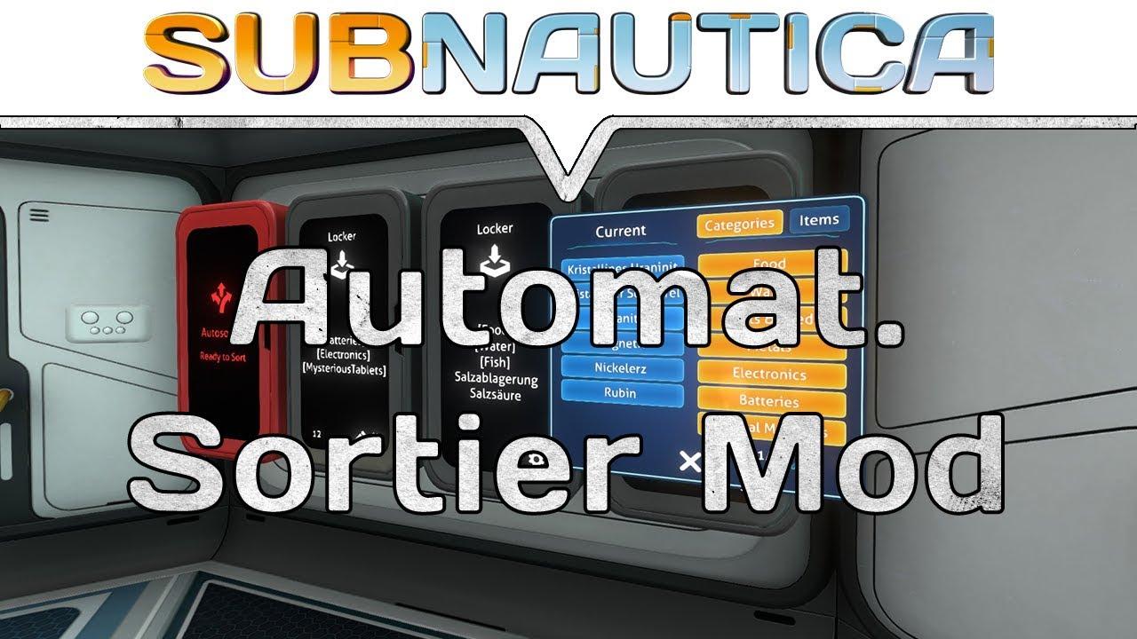 Subnautica Karte Deutsch.Subnautica Mods Autosort Mod Schranke Automatisch Sortieren Subnautica Map Mod
