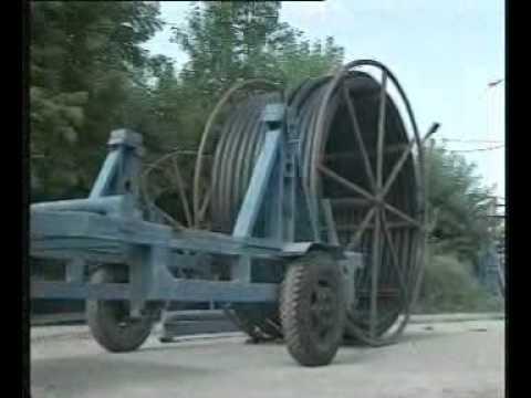 протяжка нового пэ трубопровода в старом металлическом