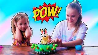 Челлендж Поймай кролика, если сможешь! Настольная игра Кролик попрыгунчик Видео для детей