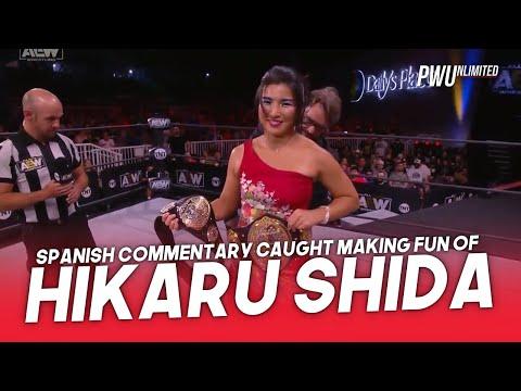 AEW Spanish Commentary Caught Making Fun Of Hikaru Shida's Accent