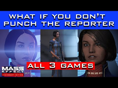 What Happens If You DON'T PUNCH The Reporter? (Mass Effect Legendary Edition - All 3 Games) |