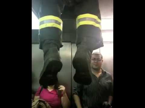 getting stuck in an elevator