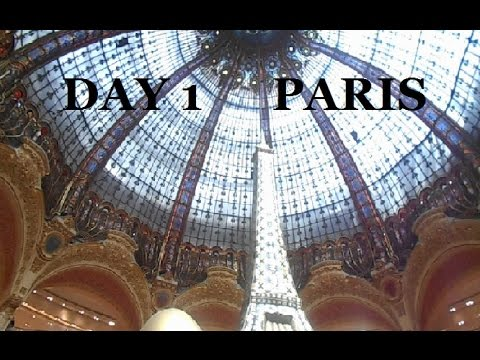 Day 1 Paris : Eating Croissant and Shopping at Galeries Lafayette