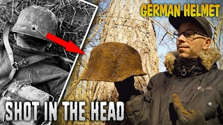 wow forest treasure found ghost wehrmacht helmet shot in the head ww2 metal detecting